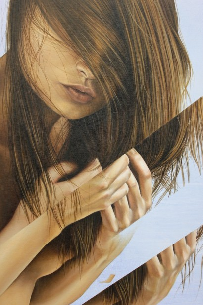 'Breathe' (Detail) - 140x110cm - oil on canvas