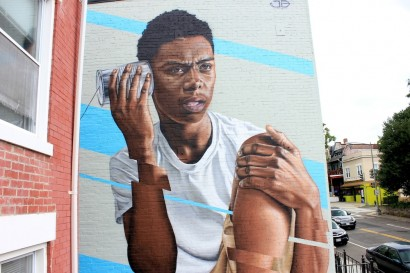 'Tin-Can Telephone' - Washington DC, USA - MuralsDC Project