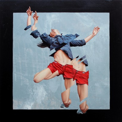 'The Falling' - 30x30cm - Oil on Panel
