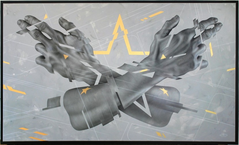 'Peacekeeper' - 140x170cm - Ink and Spray-paint on Canvas - Private Collection
