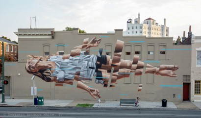 'Float' - Richmond Virginia USA - 2015 - Model: painter and muralist Katie Green (www.katiegreenartist.com) - Photo by: benjah-photography.com