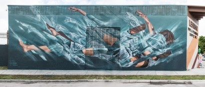 Radioactive Cascade - Wynwood Miami USA - Collaboration with Li Hill for Pangeaseed and Urban Nation