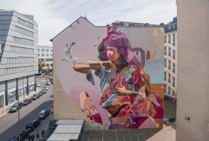Berlin Germany - Collaboration with TelmoMiel - with Urban Nation for the Berlin Mural Festival