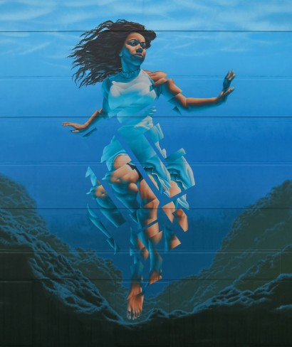Pania of the Reef - 2017 - for Pangeaseed and Sea Walls project - Napier, New Zealand